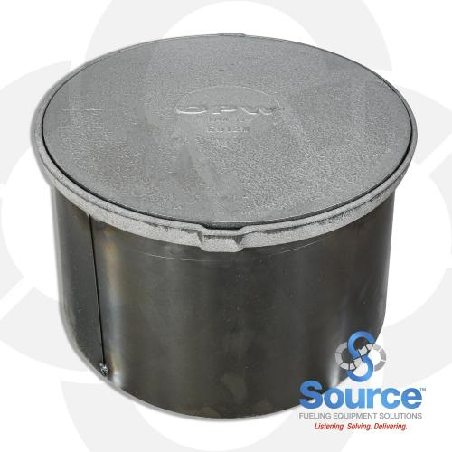 18 Inch Manhole Cast Iron Lid With 11-1/4 Inch Skirt