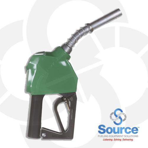 Prepay Green Unleaded Nozzle With Hold Open Clip 3/4 Inch Inlet