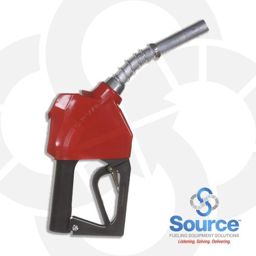 Prepay Red Unleaded Nozzle With Hold Open Clip 3/4 Inch Inlet