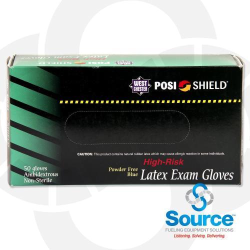 Large Posishield 14 Mil Powder Free Latex Gloves - 50 Count