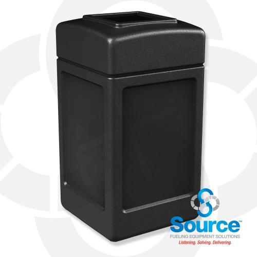 42 Gallon Square Waste Container (Black)