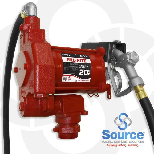 115V Ac Pump 3/4 Inch X 12 Foot Hose 3/4 Inch Manual Nozzle (Up To 20 Gpm)