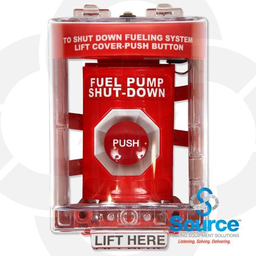 E-Stop Emergency Stop Switch Red Includes Red Cover With Momentary Stop