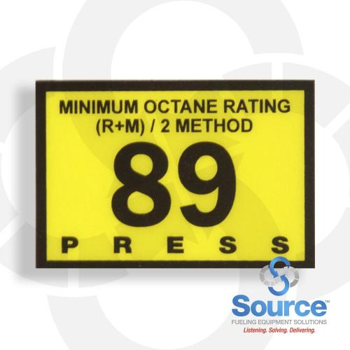 89 Octane Press Overlay (R60030-16)