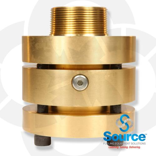 Doubletrac 2 Inch NPT Straight Brass Fitting