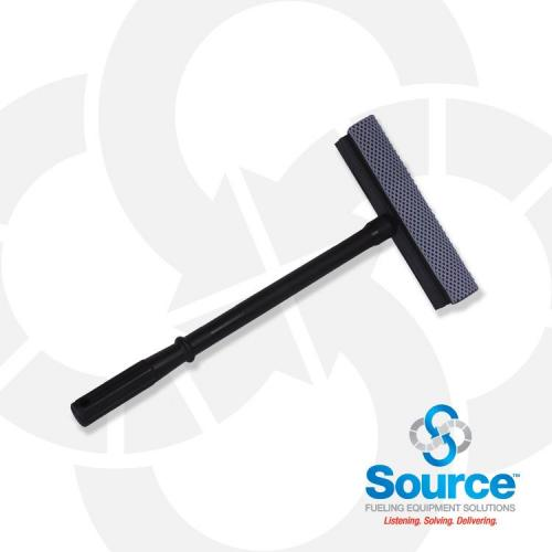 8 Inch Squeegee Head With 15 Inch Black Plastic Handle